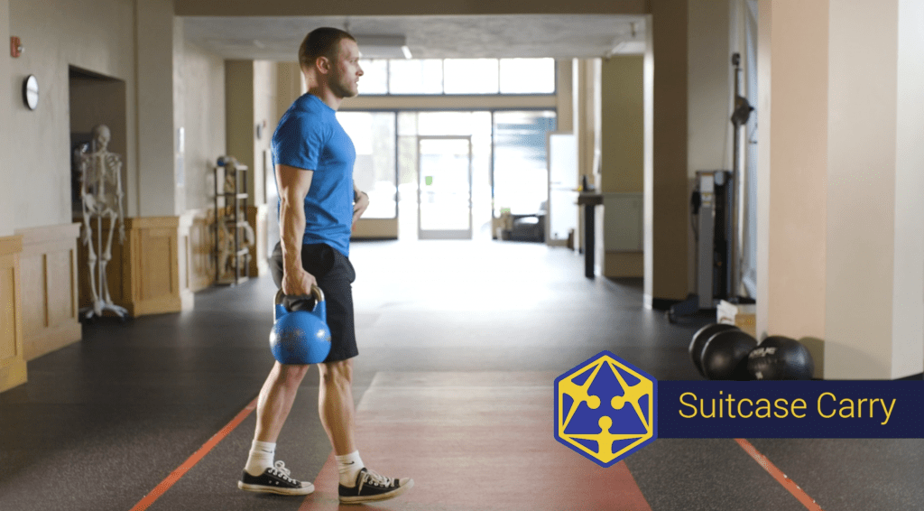 suitcase carry exercise at tensegrity physical therapy in eugene oregon