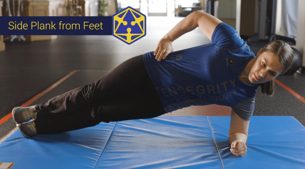 side plank eugene oregon physical therapy stregnthening tensegrity
