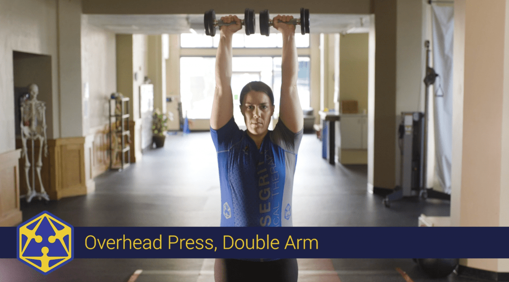 overhead press dumbbell tensegrity physical therapy eugene oregon